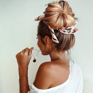 Relaxed Ballet Bun with Headscarf