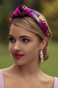 Sleek Up-Do with Satin Headband