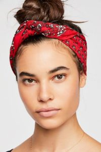 Top Knot with Bandanna Headscarf