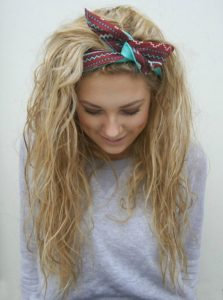 Tousled Texture and Cute Headscarf