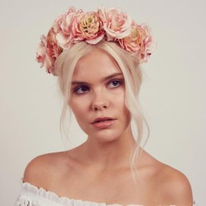 Up-do with Floral Crown