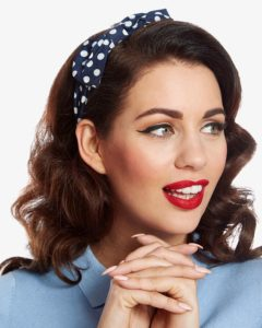 Pin-Up Girl Inspired Headband Hairstyle