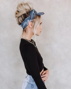 Vintage Up-Do with Contemporary Headscarf