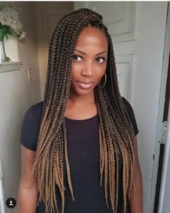 Honey ombre crochet box braid