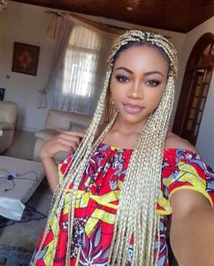 Khaleesi blonde crochet box braids
