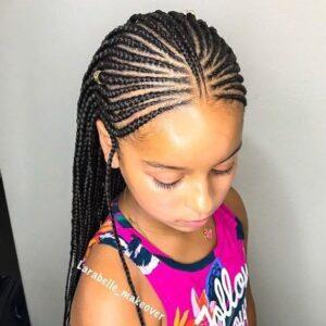 Nefertiti braids for girls