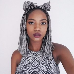 Silver crochet box braids