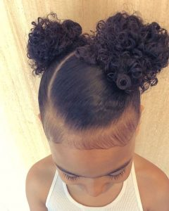 Two Curly Puffs Natural Hair