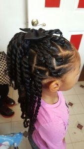 Two Strand Twists and Bow