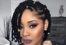 black natural braids hairstyles