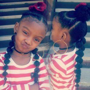 bubble braids and high hbun