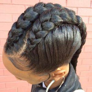 chunky goddess braids