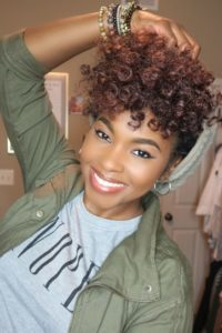 black brown curly Crochet Hair