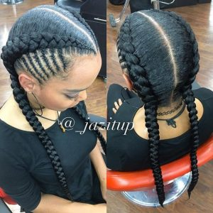 cute double fishbone braids