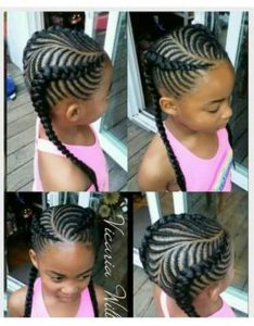 double fishbone braids for girls