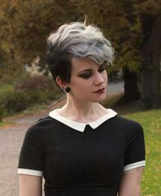 grey emo hair