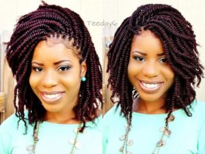 red spring crochet twists