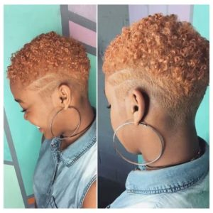 caramel short natural hair