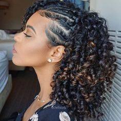 side part braid twist out