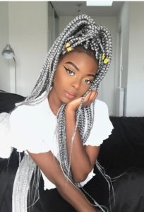 silver box braids crochet