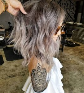 Smokey Ash Blonde and Lilac Hair