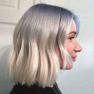 Ash Blue Hair with Touches of Icy Blue