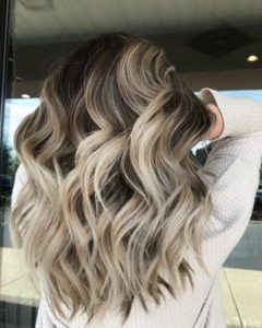 Chunky Ash Blonde Highlights