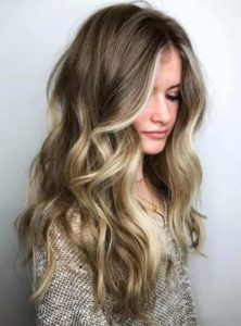Dark Ash Blonde Hair with Face-Framing Highlights