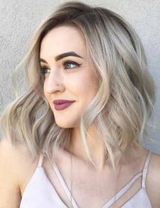 Dark Roots and Ash Blonde Lengths