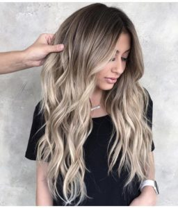 Black Root and Ash Blonde Tips