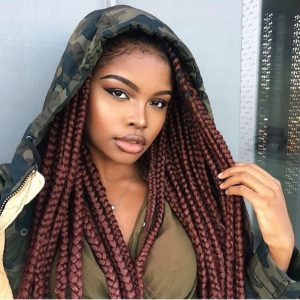 Big Red Auburn Box Braids
