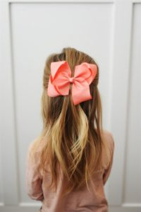 Half Up Hairstyle with Bow