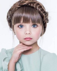 Milkmaid Braid with Bangs