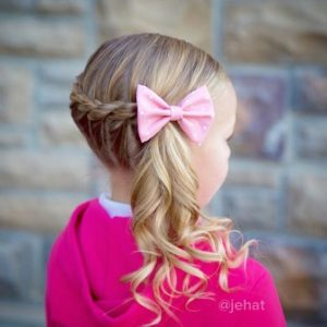 Rope Braid add Side Ponytail