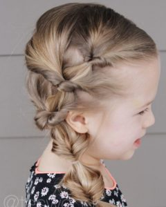 Cute Hairstyles for Little Girls - Lipped Side Ponytail