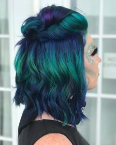 Amazing Multi-Tonal Peacock Hair