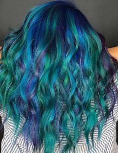 Bright and Beautiful Peacock Waves