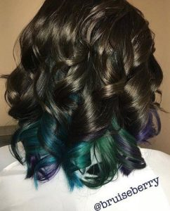 Dark Chocolate Curls with Peacock Tips