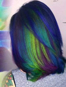 Peacock Hair with Vibrant Underlights