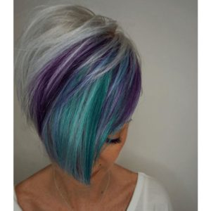Silver Pixie with Peacock Highlights