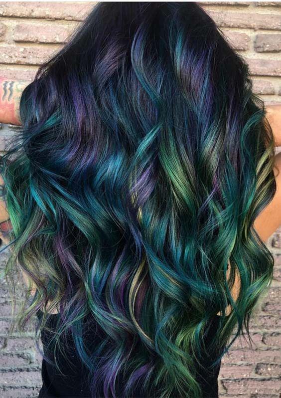 Peacock Hair Color Ideas And Looks