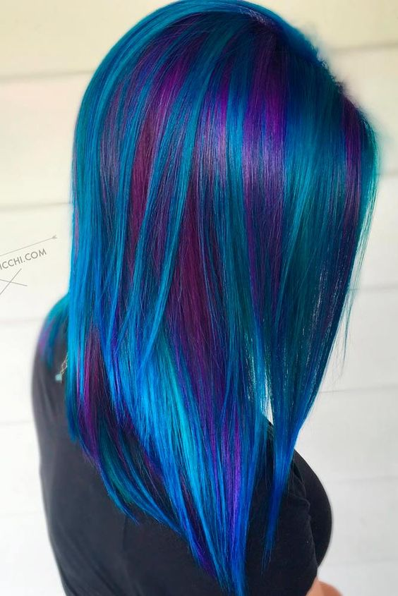 Peacock Hair Color Ideas And Looks