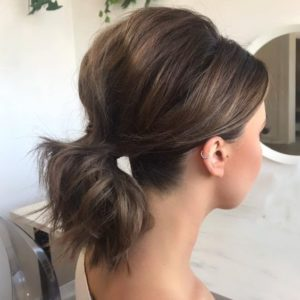 Classic Messy Ponytail with Added Volume