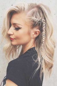 Edgy Side Braid with Hair Rings