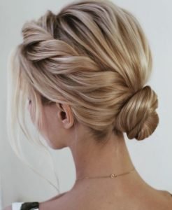 Rope Braid and Low Sleek Bun