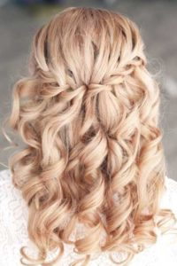 Waterfall Braid and Ringlet Curls