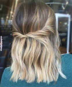 Simple Half-up Twist Hairstyle