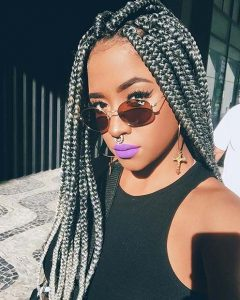 Silver Grey Box Braids