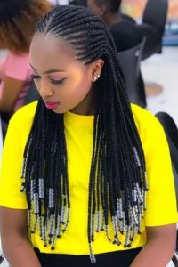 african feed in braids with weave