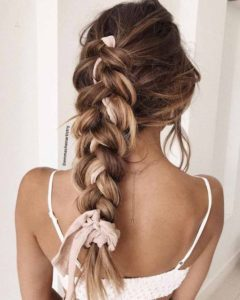 chunky braid with headband